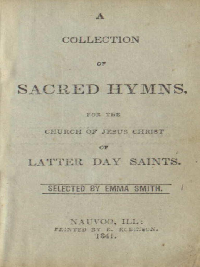 1841 Nauvoo Hymnal Religion And
