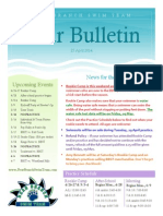 BBST Newsletter 25 April 14
