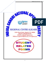 Student Related Forms Ignou