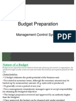 Budget Preparation MCS