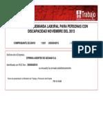 Comprobate Encuesta de Discpacidad Ministerio de Trabajo 20140107