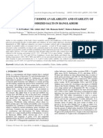 Measurement of Iodine Availability and Stability Of