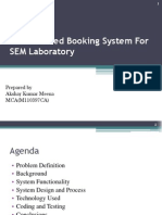 Web Enabled Booking System for SEM Laboratory Ppt