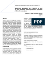 ADVANCES in COMBUSTION MODELING in STAR-CD - A New Technique for Automatic Grid and Mesh Motion Generation Applied to Diesel Combustion and Emissions Analysis