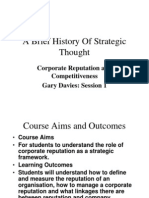 A Brief History of Strategic Thought1628