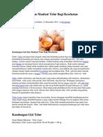 Andungan Gizi Dan Manfaat Telur Bagi Kesehatan