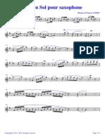 [Free Scores.com] Aubert Francois Solo en Sol Pour Saxophone 50621