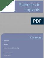 Esthetics in dental Implants