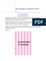 Klasifikasi Data LVQ Learning Vector Quantization