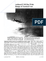 Lockheed P-38 Has Wide Range of Tactical Uses.