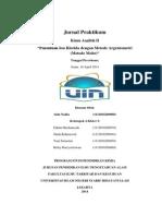 Jurnal Praktikum Penentuan Ion Klorida Dengan Metode Mohr