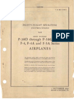 Pilot's Flight Operating Instructions for Army Models P-38D Through P-38G Series F-4, F-4A and F-5A Series Airplanes (T.O. NO. 01-75F-1, Revised 30 Sept 1944)