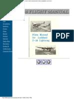 Pilots Manual for Lockheed P-38 Lightning