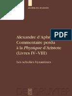Rashed_Alexandre d'Aphrodise_Commentaire Perdu a La Physique d'Aristote (CAGB-1)