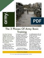 3 Phases of Army Basic Training