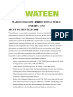 Wateen Telecom Limited Initial Public Offering