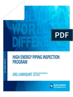 High Energy Piping Inspection