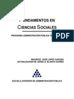 Fundamentos en Ciencias Sociales
