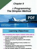 Ch 9 Simplex Method
