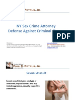 NY Sex Crime Attorney Defense Against Criminal Charges
