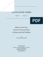 Norman Harry Rothschild - Rhetoric of the Loom. Discursive Weaving Women in Chinese and Greek Traditions (Sino-Platonic Papers, January 2014)