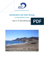 Desalination With Solar Energy