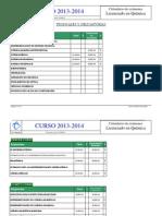 Examenes 2013-14 Licenciatura Quimica