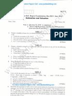 Estimation & Valuation Jan 2014