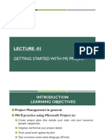 Getting Started with Microsoft Project 2007