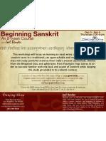 Beginning Sanskrit - An 8 Week Course