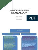 Categorii de Areale Biogeografice