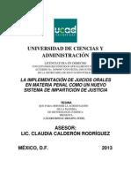 Los Juicios Orales en Mexico (1)