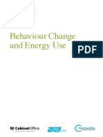 Behaviour Change and Energy Use