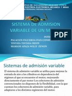 Sistema de Admision Variable de Un Motor Ultimo
