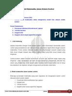 Model Matematika Dalam Sistem Kontrol