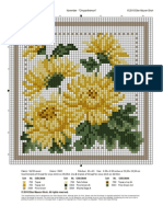 Chrysanthemeum Cross Stitch