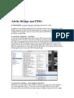 AdobeBridge and PDF