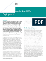 Fiber Arch for Rural FTTx WP