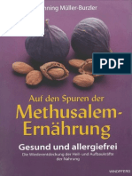 Muller Burzler Methusalem Ernaehrung 2009