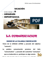 1.1 COMUNICACION
