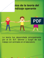 Principios de La Teoría Del Aparendizaje Operante.