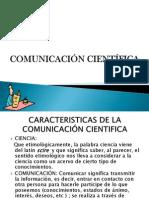 1.2 COMUNICACIÓN CIENTIFICA