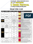 2014 Real Ale List