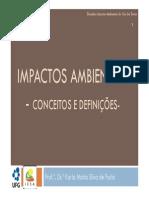 I- Impactos Ambientais- Conceitos e Definicoes