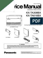 Panasonic Kx Ta308 Kx-ta616 Service Manual