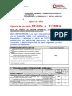 35623-Tabla Codigos Hechos Imponibles 01.01.2014