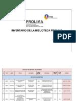 Catalogo de Biblioteca Prolima- Julio 2013