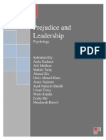 Prejudice and Leadership