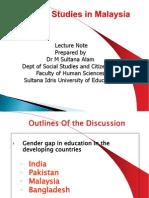 Gender Gap in Education (Developing Countries)