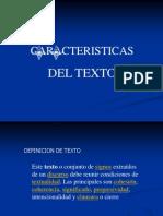 2.2 EL TEXTO Y SUS CARACTERISTICAS